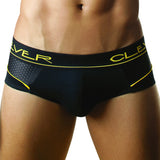 Clever Moda Brief Cotton-Mesh Black Men's Underwear