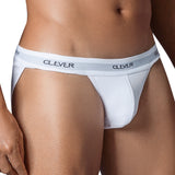 Clever Moda Tanga Brief New Wave White Men's Underwear