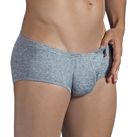 Clever Moda Latin Brief Shake Grey Men's Underwear