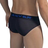 Clever Moda Latin Brief Zebra Black Men's Underwear