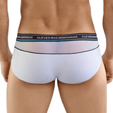 Clever Moda Piping Brief Nectar White Men's Underwear