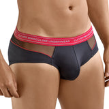 Clever Moda Piping Brief Nectar Black Men's Underwear