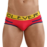 Clever Moda Piping Brief Czech Red Men's Underwear