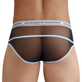 Clever Moda Piping Brief Asian Black Men's Underwear