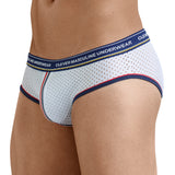 Clever Moda Piping Brief Fransua White Men's Underwear