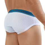 Clever Moda Piping Brief Cattleya White Men's Underwear