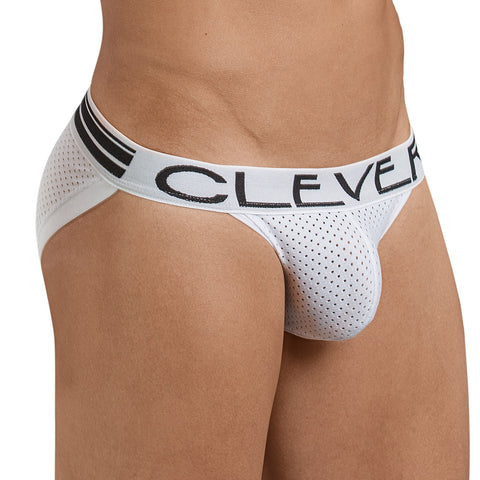 Clever Moda Brief Fancy White Men's Underwear