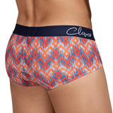 Clever Moda Classic Brief Bohemian Red Men's Underwear