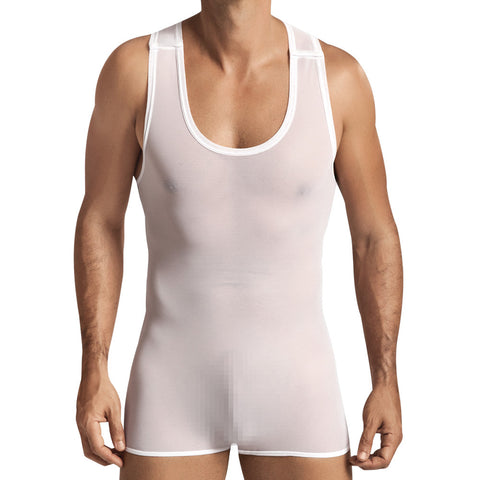 Pikante Mesh Body Silom White Men's Underwear