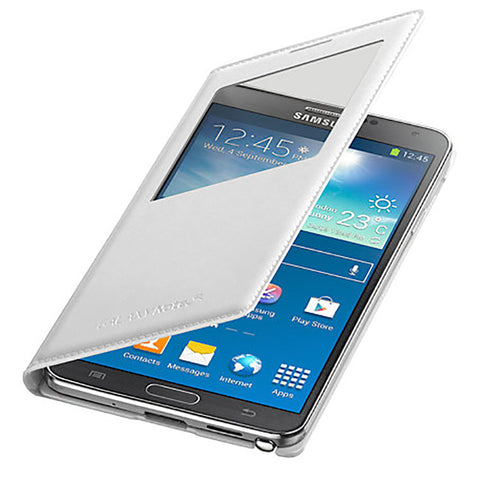 Galaxy Note 3 (N9000) S-View Cover / white, Skin - Itstek