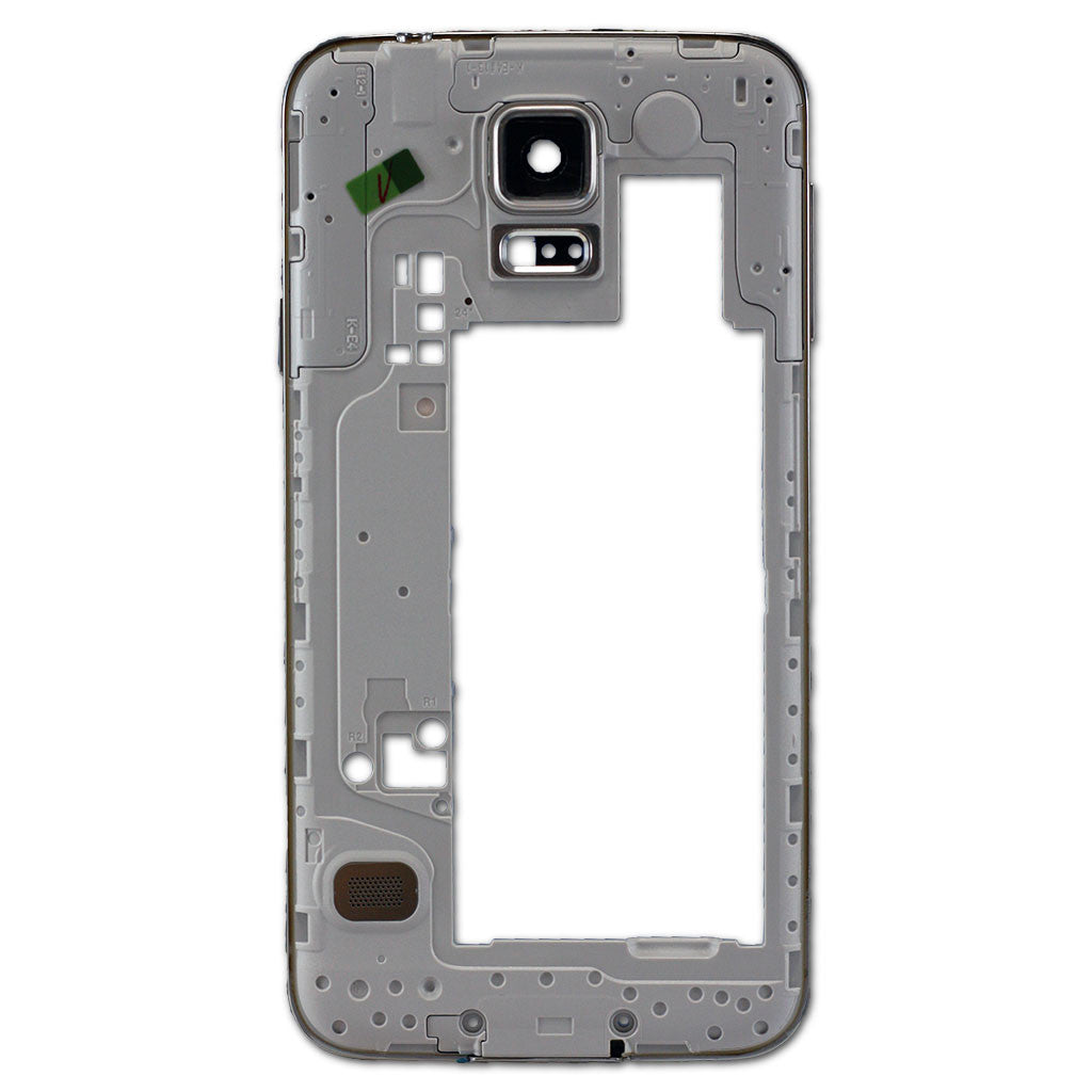 Samsung G900F Galaxy S5 Middle Cover + Camera Lens Black, Cover - Itstek