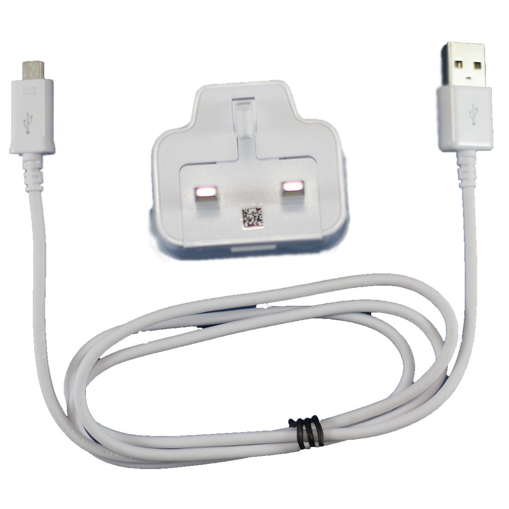 Samsung i9505 Micro Mains Adaptor + Cable ECB-DU4AWE White, Mains Charger - Itstek