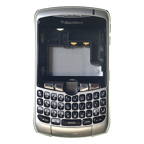Blackberry 8310 Housing with Lens & Keypad Silver A+ Grade, Complete Housing - Itstek