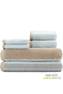 Addison MODERN STRIPES with a CHEVRON TWIST 6-Piece Towel Set
