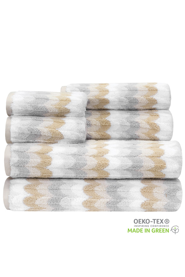 QUICK DRY,SUPER ABSORBENT, OVERSIZED, PREMIUM & LUXURY 6-Piece Towel Set