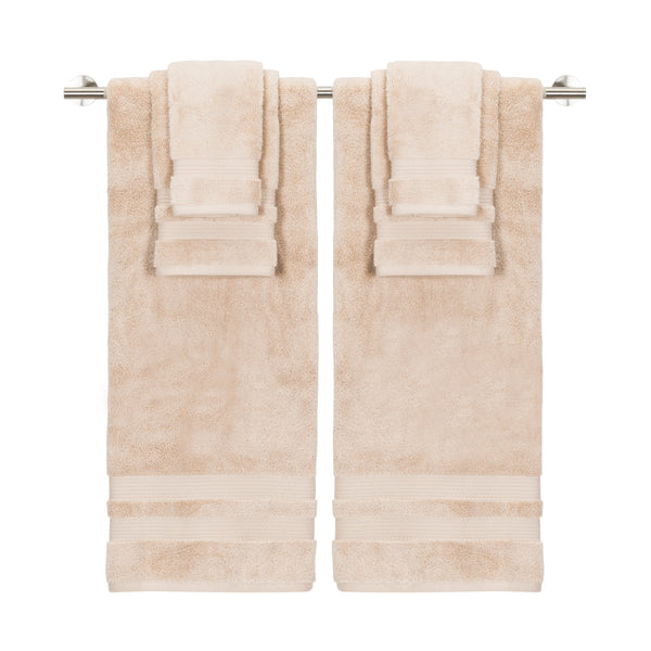 *NEW* BELAIRE OVERSIZED SUPER PLUSH ZERO TWIST 6PC TOWEL SET