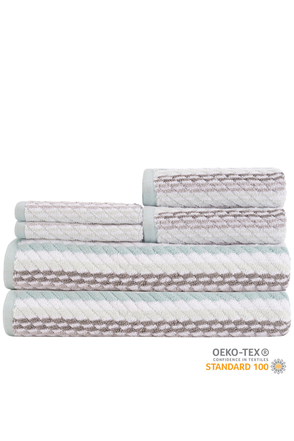 Carlyle 6-Piece Towel Set - CLASSIC & FUN STRIPES