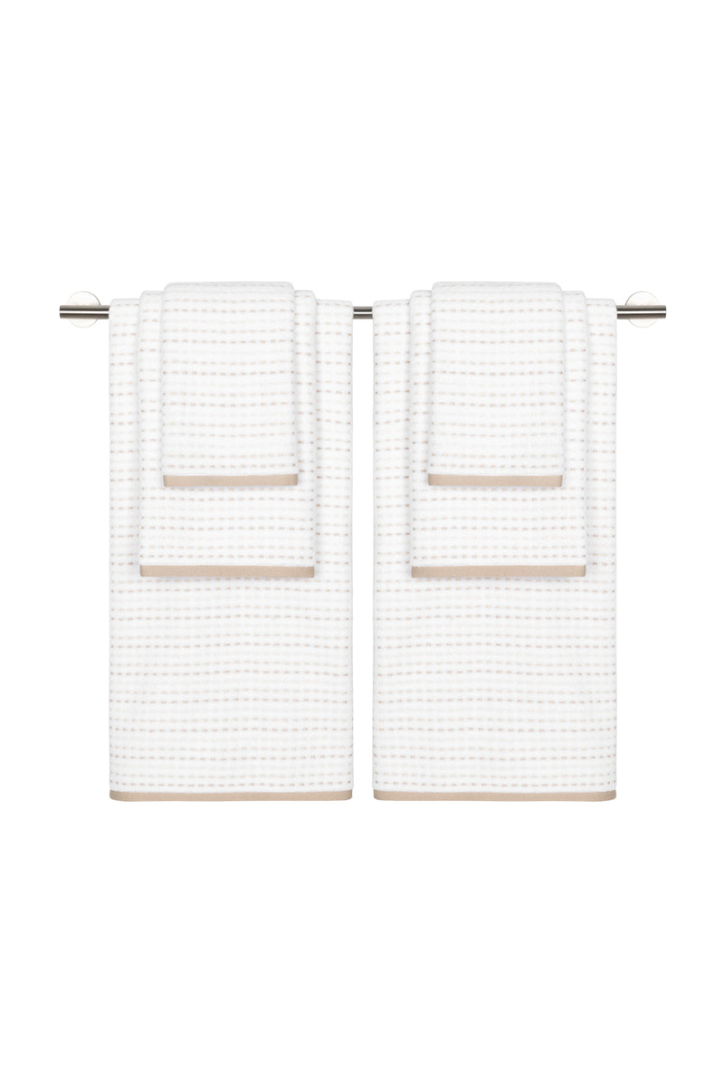 Parsnip 6-Piece Towel Set: The Architectural Towel