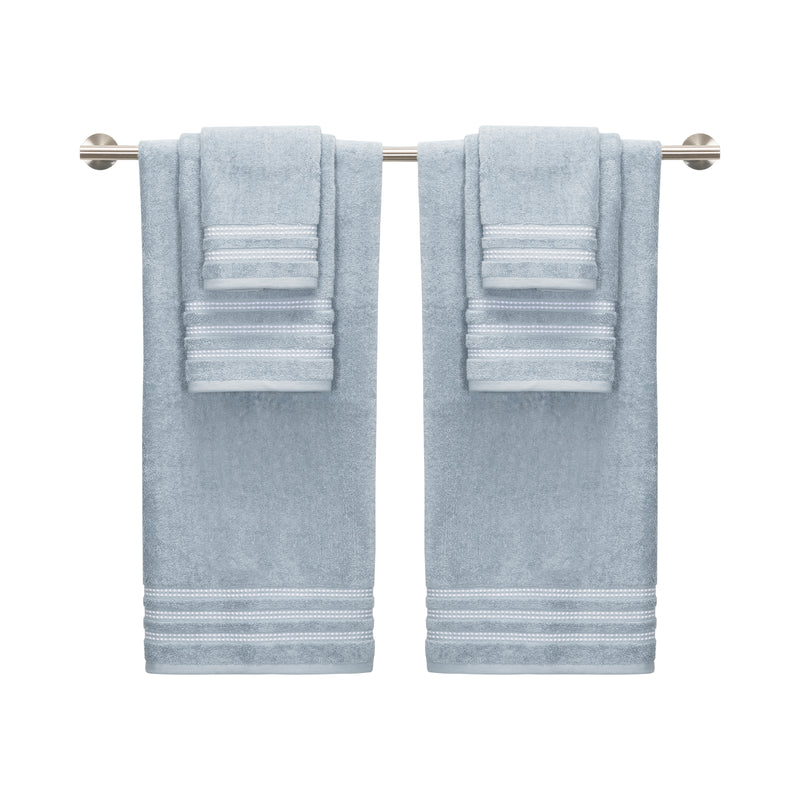 *NEW* Sabina 6-Piece Towel Set - CLASSIC PEBBLE BORDER & HIGHLY ABSORBENT TOWELS