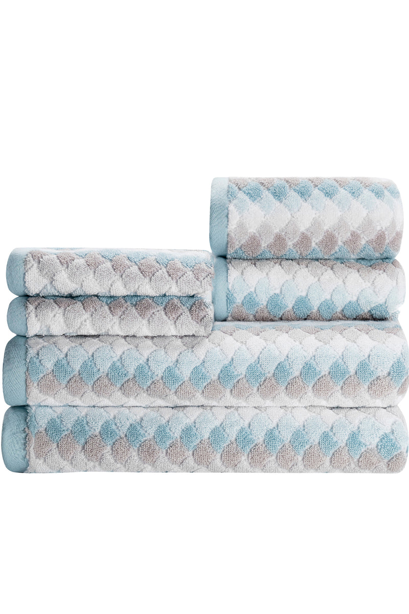Salina 6-Piece Towel Set: The Tile