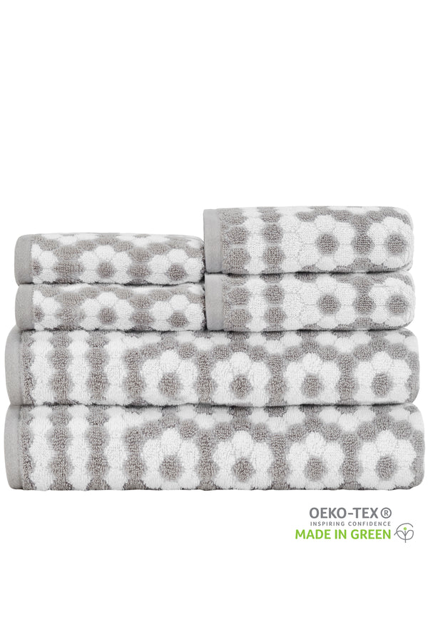 *NEW* Veronica MODERN FUN & STYLIZED GEO 6-Piece Towel Set