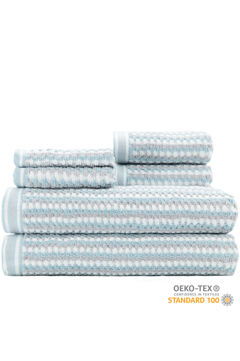 Wakefield 6-Piece Towel Set - MODERN & FUN ULTRA ABSORBENT TOWELS