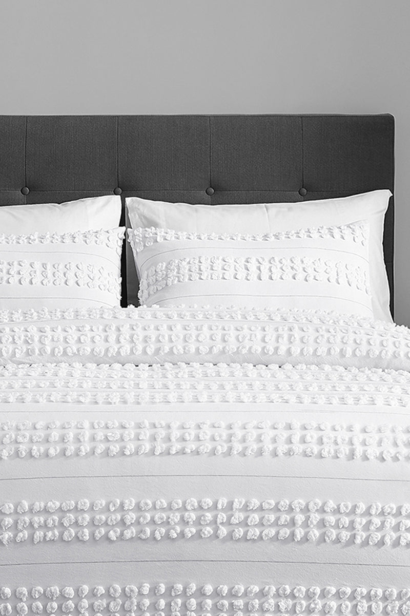 ZARIA 3 Piece Duvet Set-100% WASHED COTTON