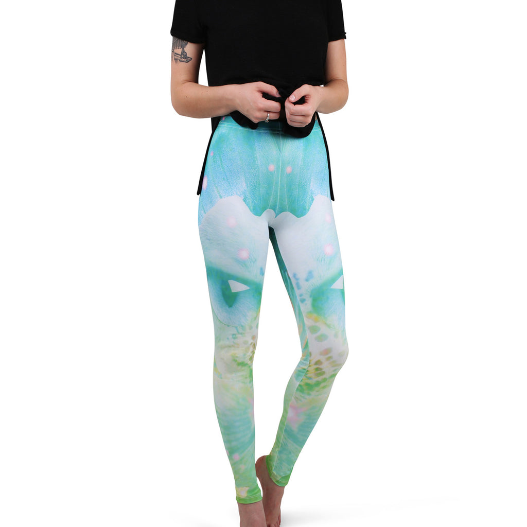 'No Money' Cut & Sew Dye Sub Leggings