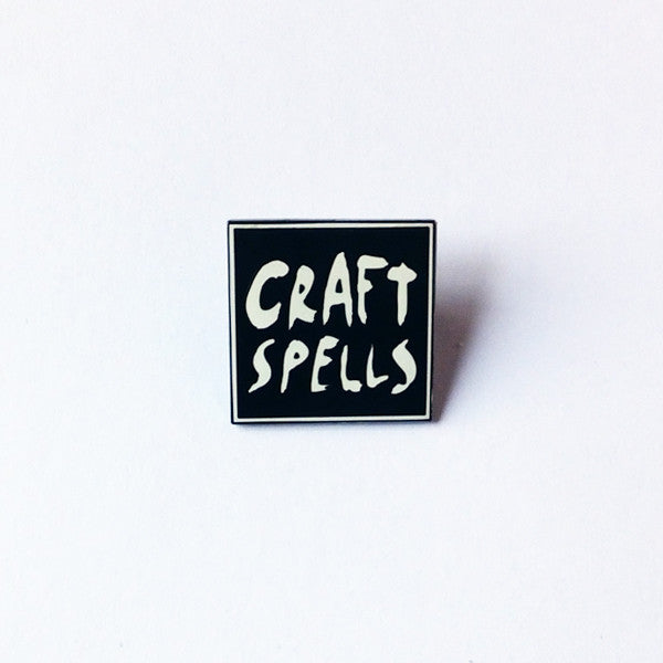 "Craft Spells 1"" Square Enamel Button"