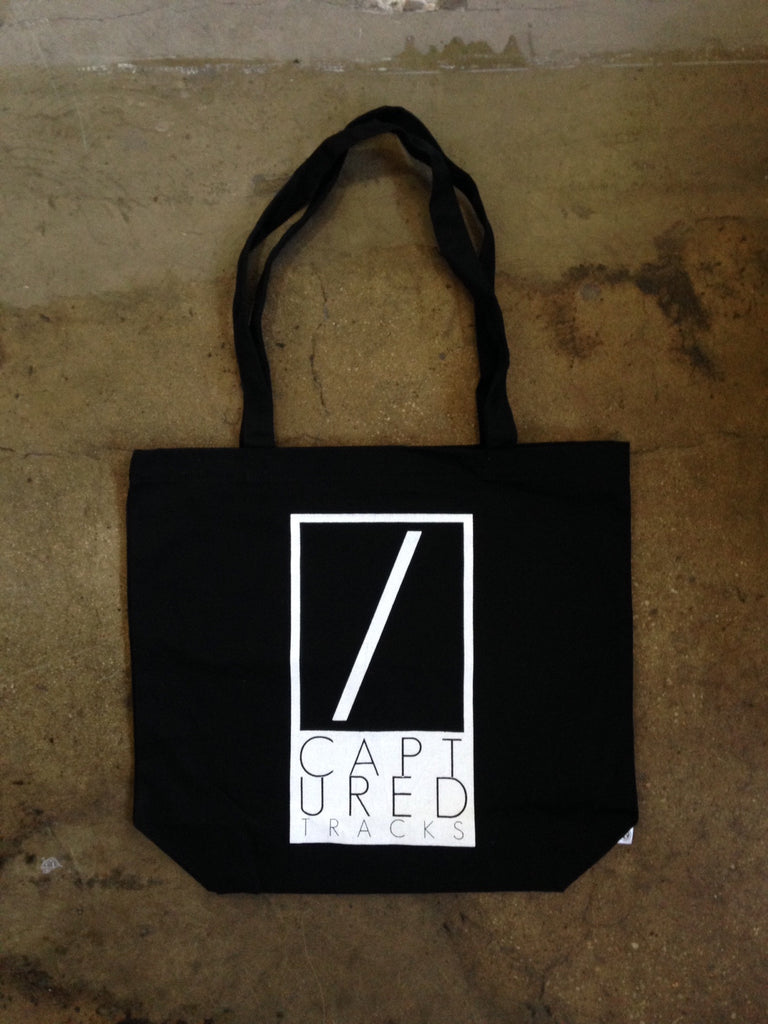 Captured Tracks Black Tote Bag