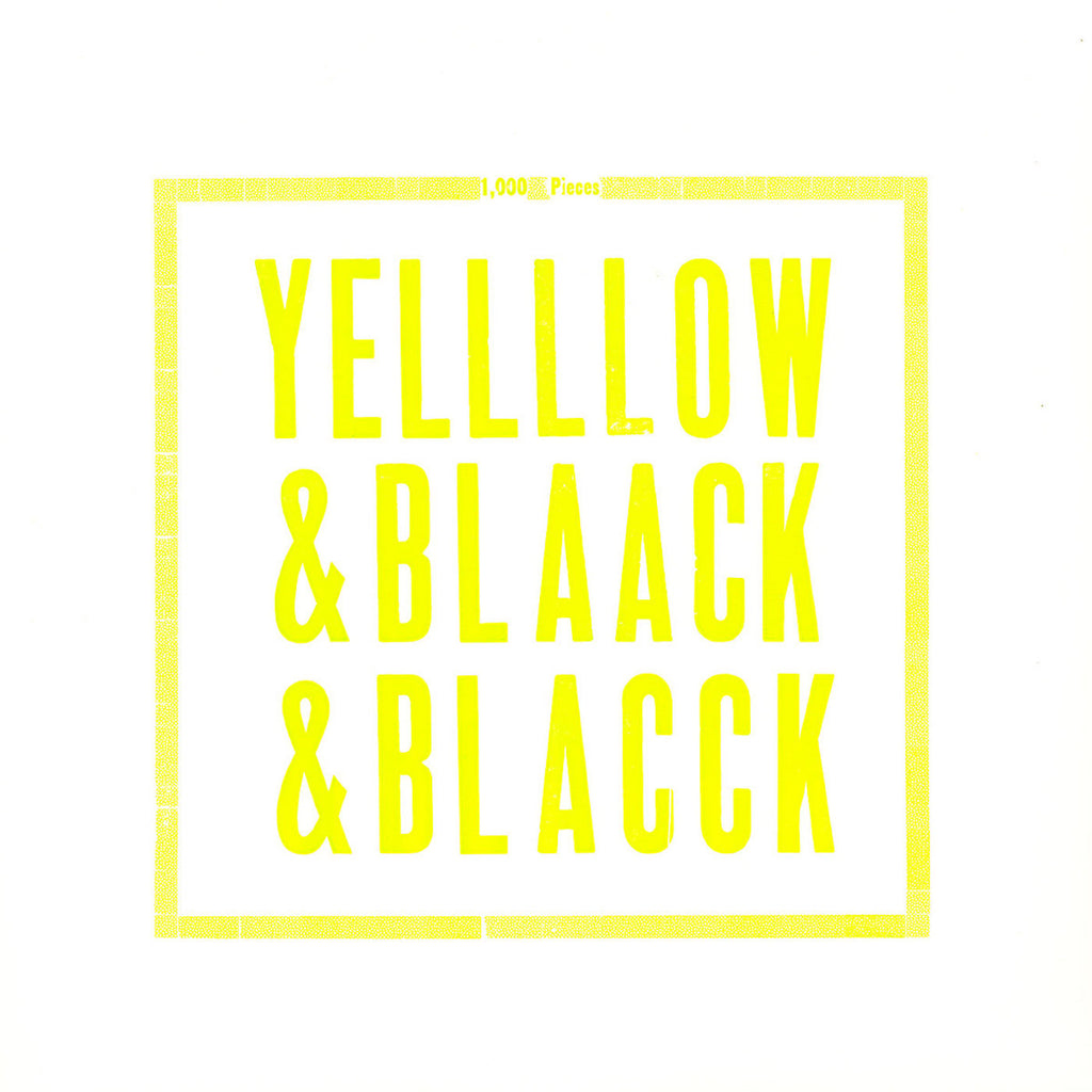 Yellow & Black & Black Vinyl