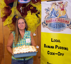 Reba Winters with Grannie's Best Banana Pudding with Meringue