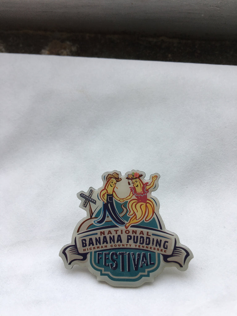 Banana Pudding Logo Pins