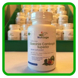 Garcinia Cambogia Superior (3-In-1 Blend) With 60% HCA, Green Coffee Bean Extract & Raspberry Ketones - 60 Capsules