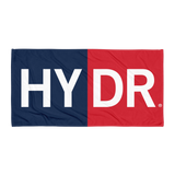 HYDR Beach Towel (Navy and Red)