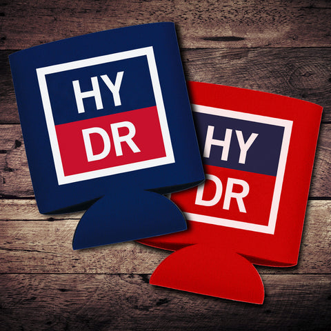 HYDR Logo Can Coolers