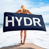 HYDR Navy Beach Towel