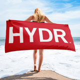 HYDR Red Beach Towel