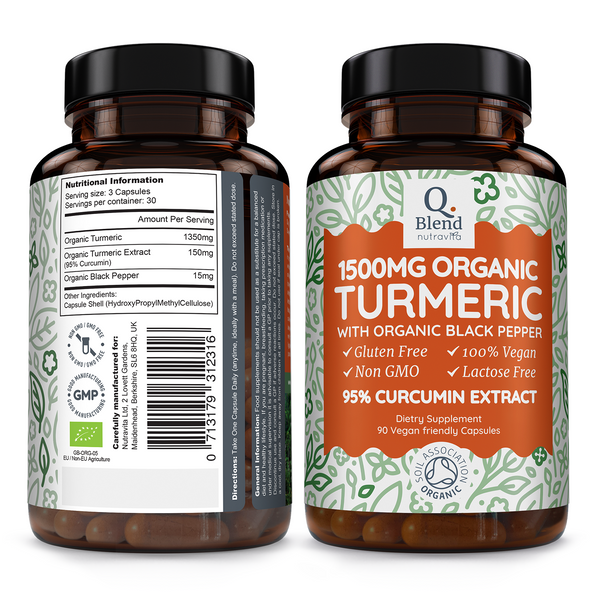 Turmeric Curcumin Certified Organic with Black Pepper-Nutravita