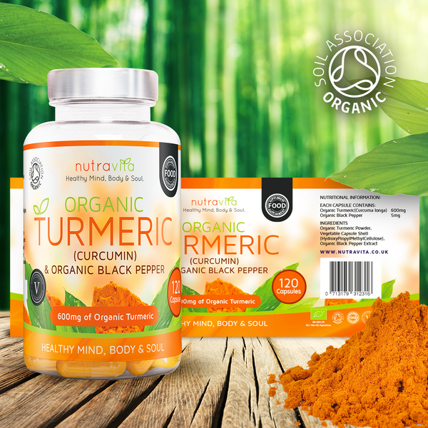Organic Turmeric with Organic Black Pepper-Nutravita