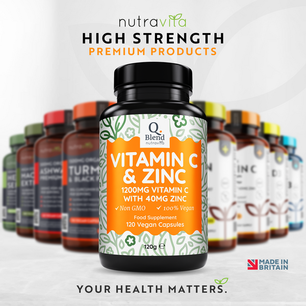 Vitamin C with Zinc high strength Vegan Friendly