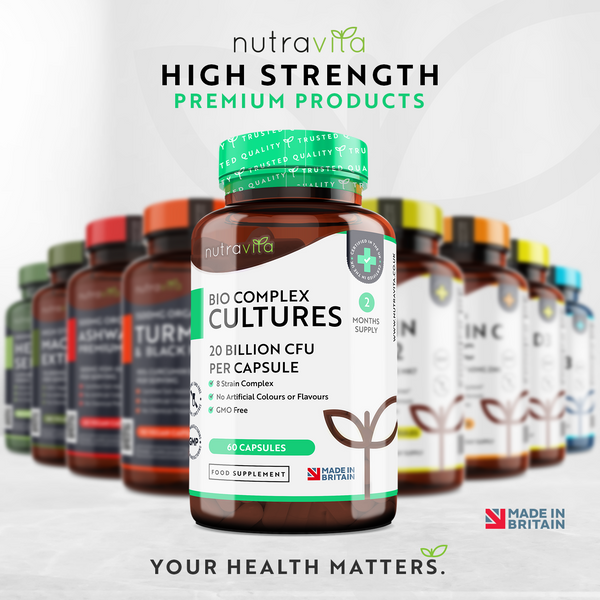 20 Billion CFU 8 Strain Bio Complex Cultures for Digestive Health