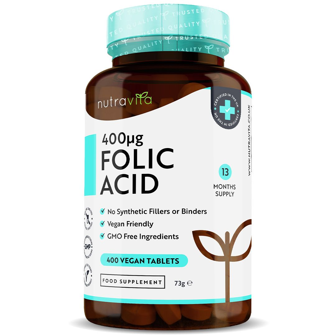 Folic Acid Tablets 400ug - 400 Vegan Tablets