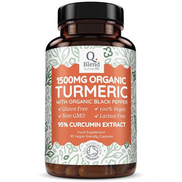Turmeric Curcumin Certified Organic with Black Pepper