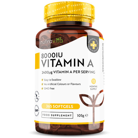 Vitamin A 8000IU 365 Softgels
