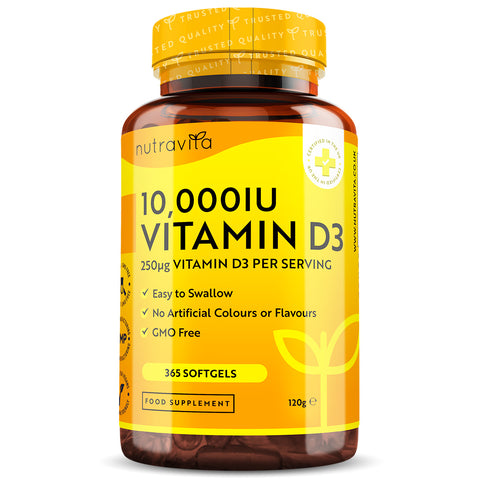 Vitamin D3 10,000iu (250mcg) - 365 Softgels