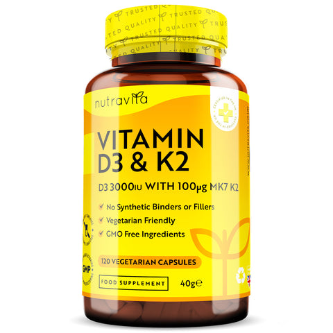 Vitamin D3 with Vitamin K2 MK7 Superblend