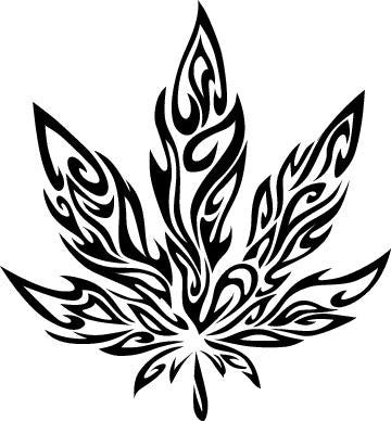 Tribal Pot Leaf