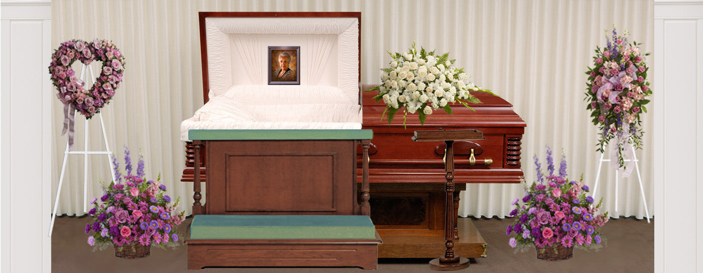For Her - Open Casket Display