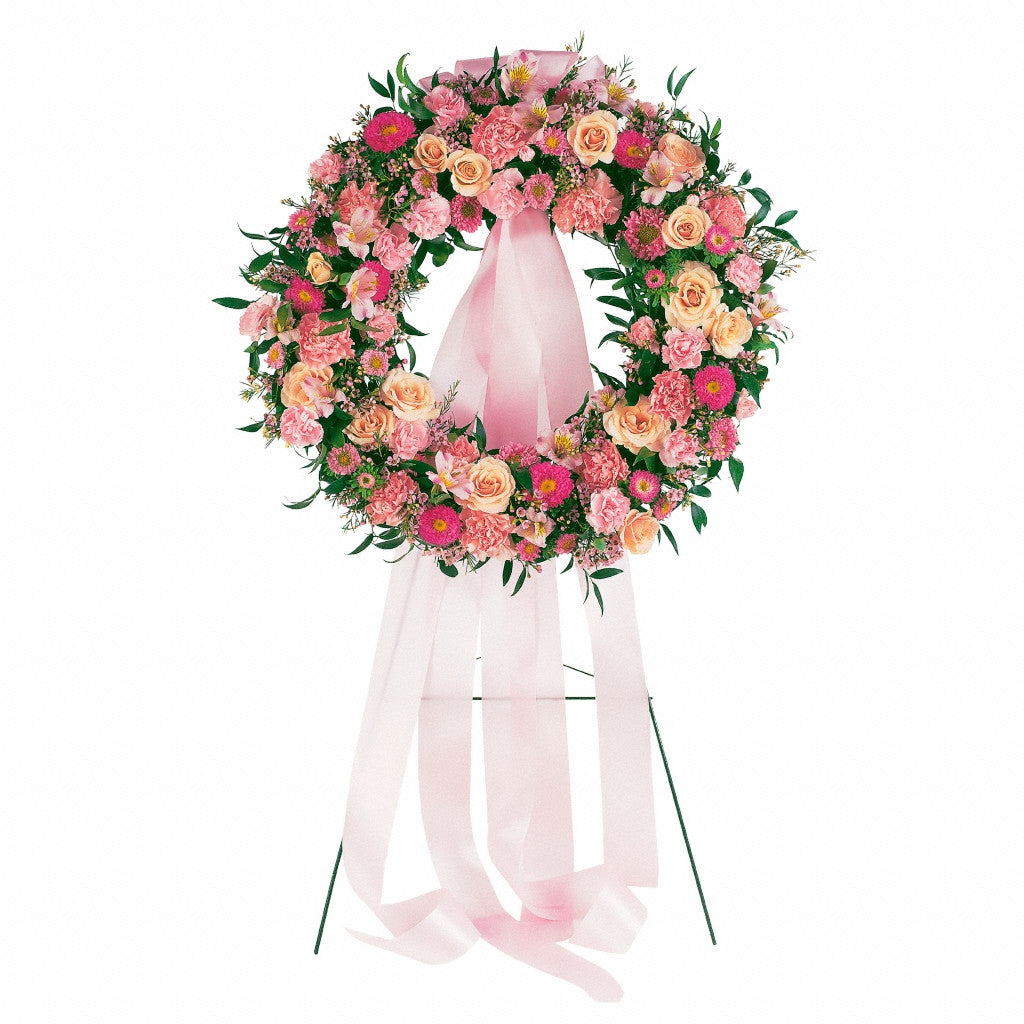 (display image: Respectful Pink Wreath)